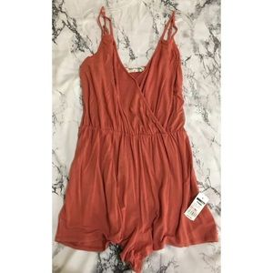 Bear Dance NWT! Coral Lace-up Romper Size S